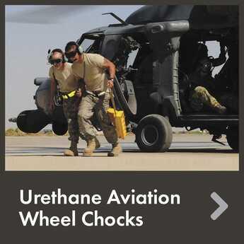 Urethane Aviation Wheel Chocks